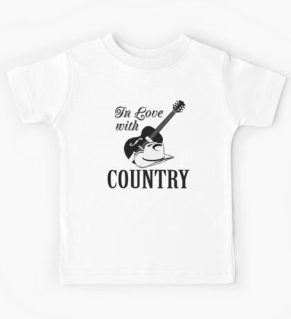 In love with country Kids Tee