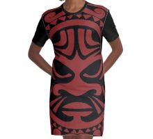 Tribal design from Maori culture Graphic T-Shirt Dress