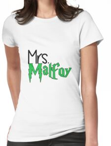 Mrs. Malfoy: Plain Text Womens Fitted T-Shirt