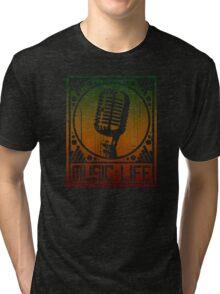 Music is Life: Mic Tri-blend T-Shirt