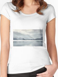 Wall Holm Island Ullswater Women's Fitted Scoop T-Shirt