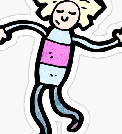 cartoon dancing doll Sticker