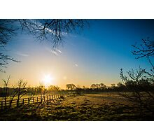 Sunrise over the Field Photographic Print