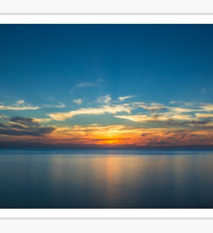 Sunset over Isle Sheppy Sticker
