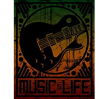 Music is Life: Guitar Photographic Print