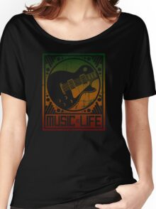Music is Life: Guitar Women's Relaxed Fit T-Shirt
