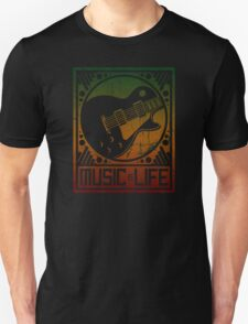Music is Life: Guitar Unisex T-Shirt
