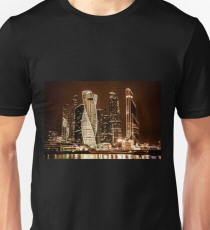 Skyscrapers of Moscow city Unisex T-Shirt