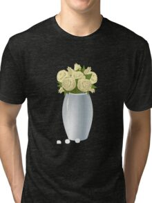 Glitch furniture roomdeco vase of buttercup  roses Tri-blend T-Shirt
