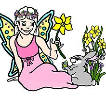 Spring Faerie with Bunny by imphavok