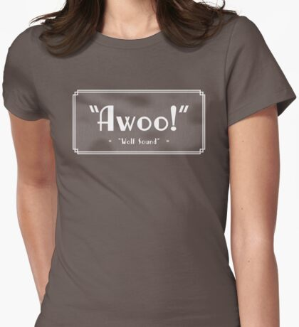 OLD TIMEY WOLF HOWL Womens Fitted T-Shirt