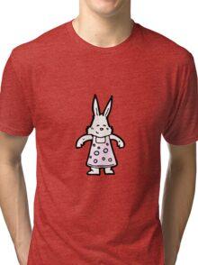 cartoon white rabbit Tri-blend T-Shirt