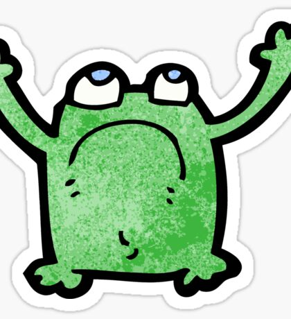 cartoon unhappy frog Sticker