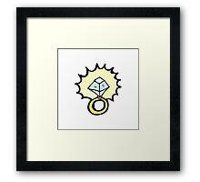 cartoon magic ring Framed Print