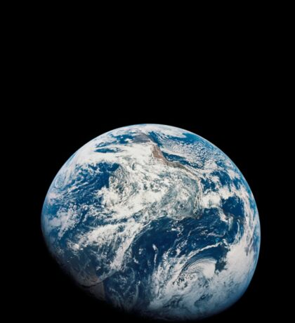 View of Earth taken from the Apollo 8 spacecraft. Sticker