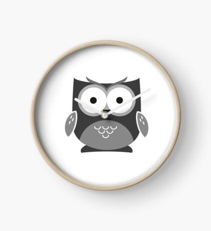 Monochrome Owl Clock