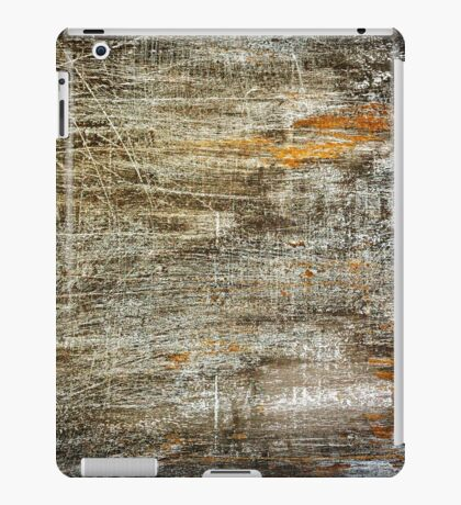 Black grunge background with many white scratches iPad Case/Skin