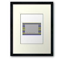 ZX Spectrum Loading Error Framed Print