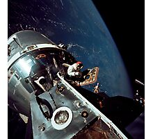 Docked Apollo 9 Command and Service Modules and Lunar Module. Photographic Print