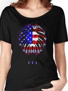 USA LION Women's Relaxed Fit T-Shirt