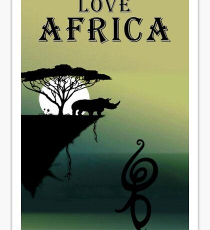 Love Africa Sticker