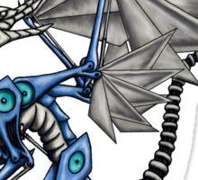 Steampunk Dragon - Steel and Aluminum Sticker