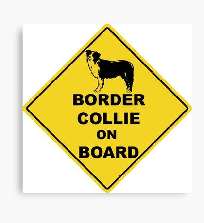 Border Collie on board Canvas Print