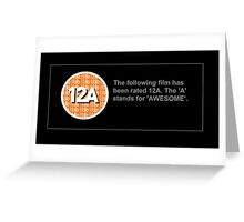 BBFC Rating 12A for Awesome Greeting Card