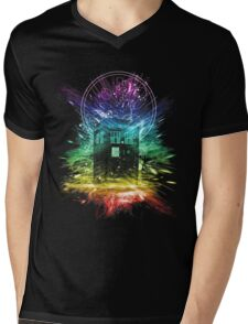 time storm-rainbow version Mens V-Neck T-Shirt