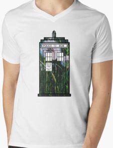 Dandelion TARDIS Mens V-Neck T-Shirt