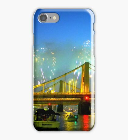 Pittsburgh Skyline Fireworks iPhone Case/Skin