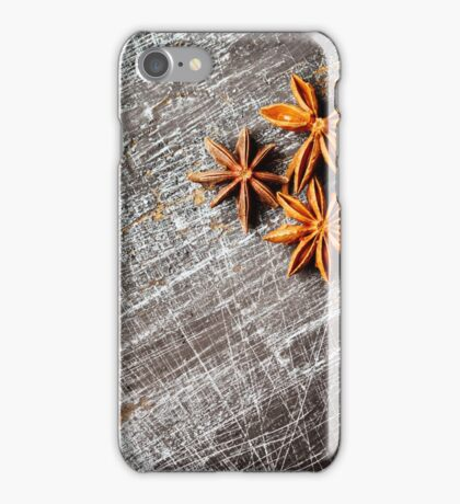 Food background with three star anise close up  iPhone Case/Skin