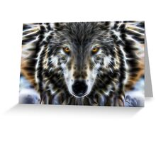 Wolf Inspirational Portrait Greeting Card