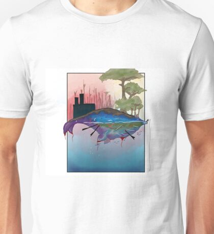 Whale Earth Painting Unisex T-Shirt