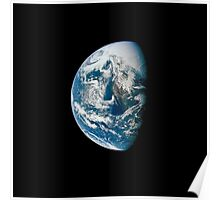 View of Earth taken from the Apollo 13 spacecraft. Poster