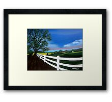 Early sunset Framed Print