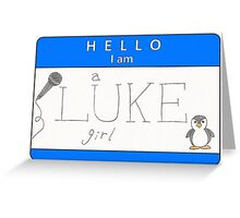 luke girl name tag (horizontal) Greeting Card