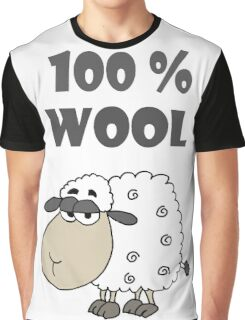 Funny Cool Sheep Cartoon is 100 Percent Wool Graphic T-Shirt