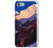 colorful sunset in the Valle Aurina iPhone Case/Skin