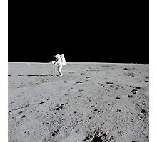 Apollo 14 astronaut makes a pan with the lunar surface television camera. Photographic Print