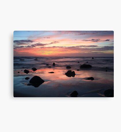 Sunset On Ocean Canvas Print