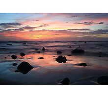 Sunset On Ocean Photographic Print