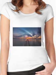 Cleveland Point Sunset Women's Fitted Scoop T-Shirt
