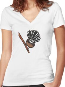 Fantail Women's Fitted V-Neck T-Shirt
