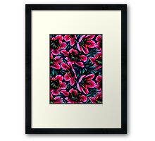 POPPIES; Colorful Flower Abstract Print Framed Print