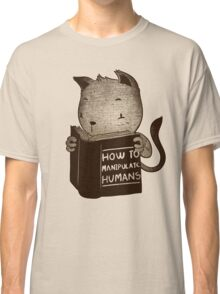 Cat Book How To Manipulate Humans Classic T-Shirt