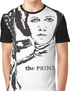 Carrie Fisher, The Princess by Pasha du Valentine for Goddamn Media Graphic T-Shirt