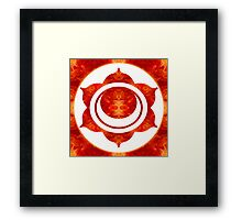 Exploding Sensuality Abstract Chakra Art  Framed Print