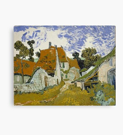Vincent Van Gogh - Street In Ouvers-Sur-Oise 1890 Canvas Print