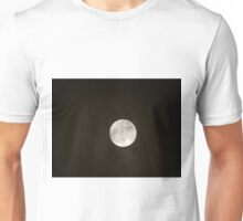 Full moon and clouds Unisex T-Shirt